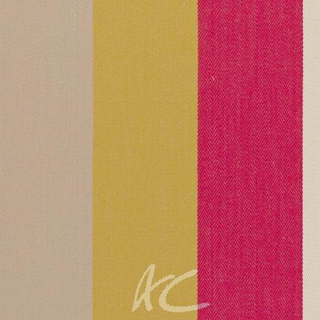 Clarke and Clarke Wild Garden Lawn Stripe Raspberry Cushion Covers