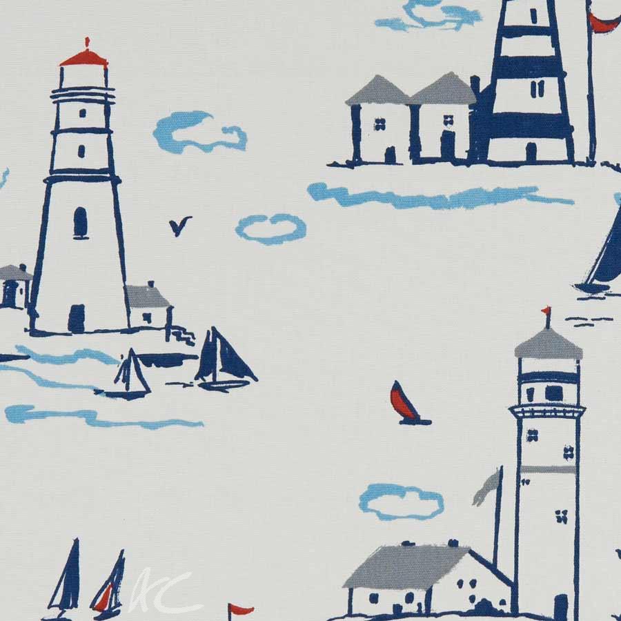 A Land and Sea Lowestoft Marine Curtain Fabric