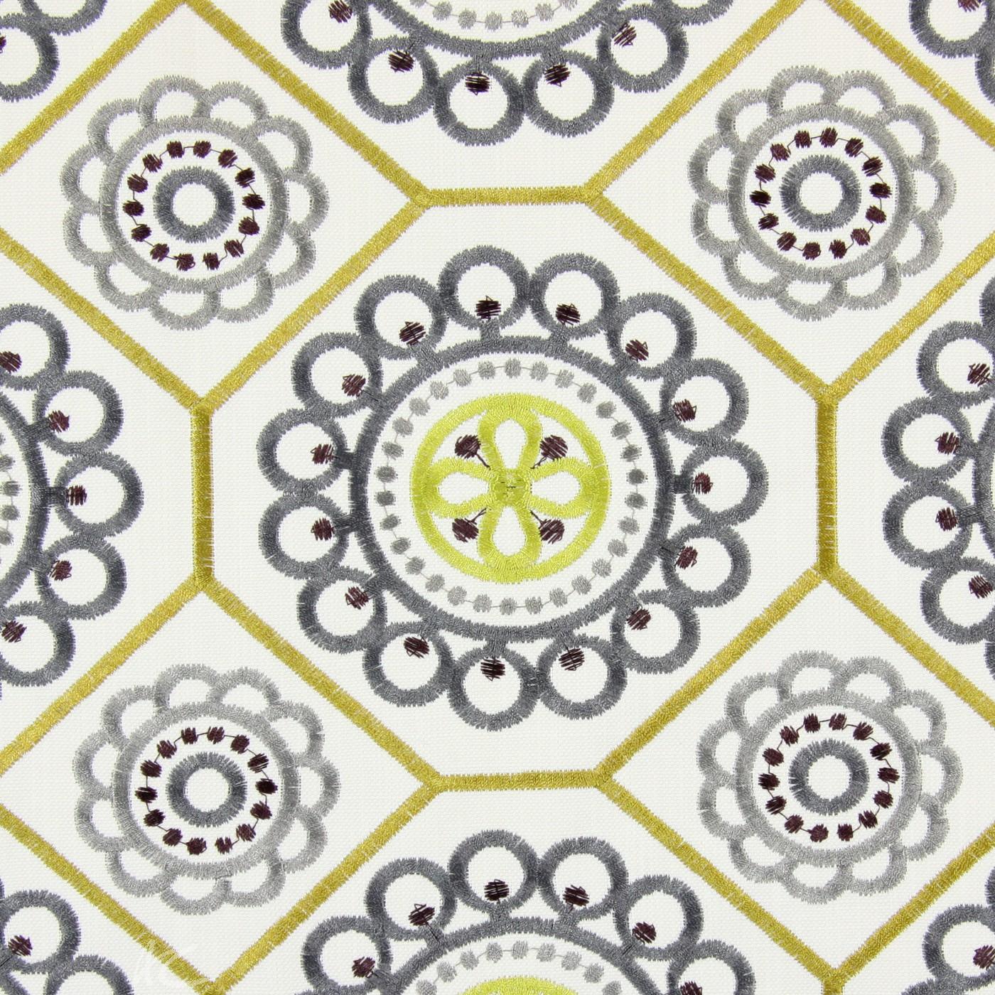 Sumatra Mambo Saffron Curtain Fabric