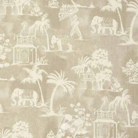 Clarke and Clarke Indienne Mandir Linen Made to Measure Curtains