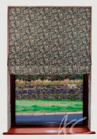 Clarke and Clarke Clarisse Marie Charcoal Roman Blind