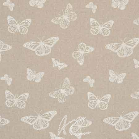 Clarke and Clarke Fougeres Mariposa White Cushion Covers