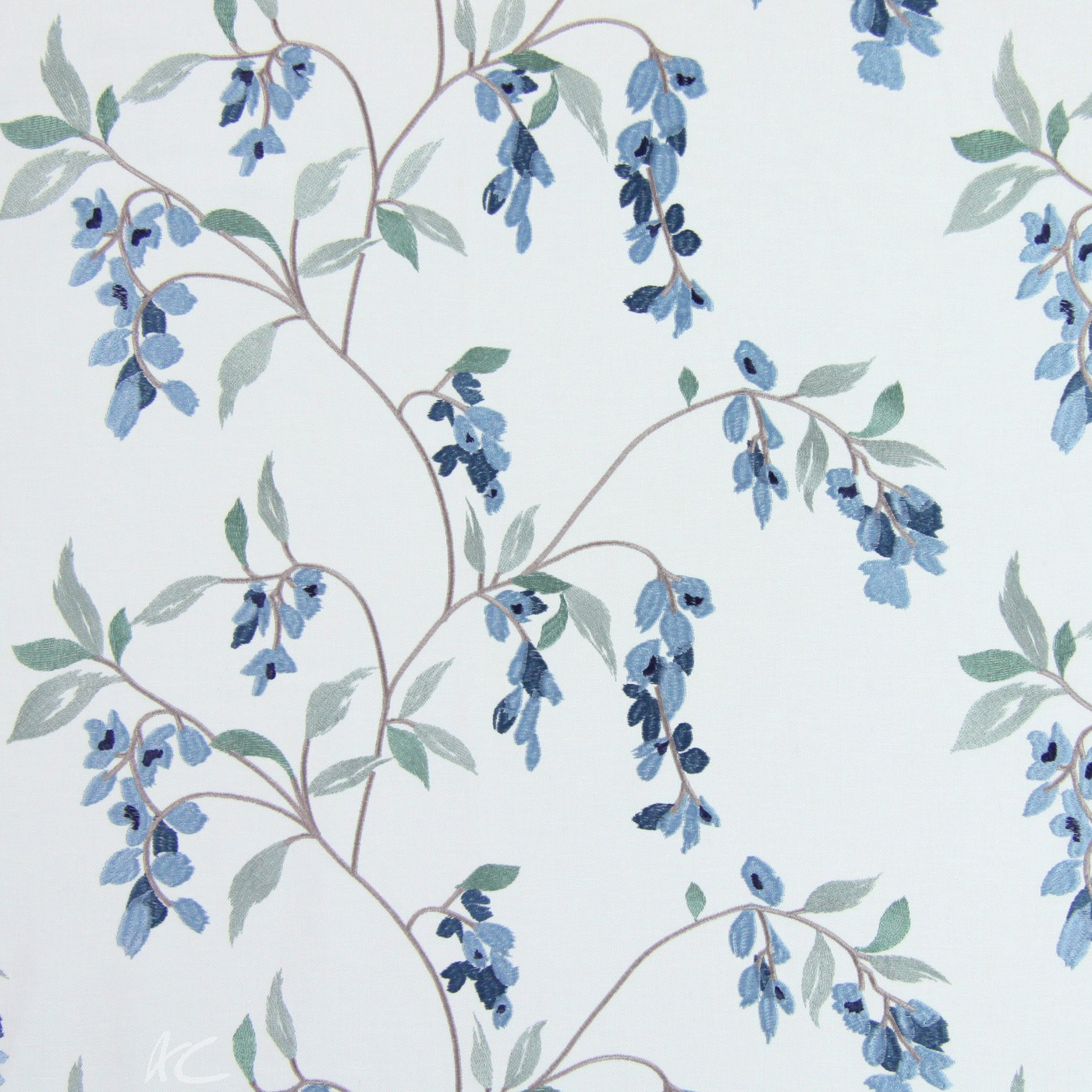 Pemberley Montague Cornflower Blue Made to Measure Curtains