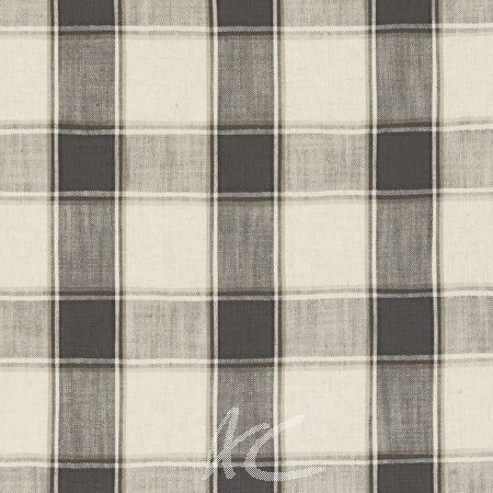 Clarke and Clarke Fairmont Montrose Charcoal Curtain Fabric