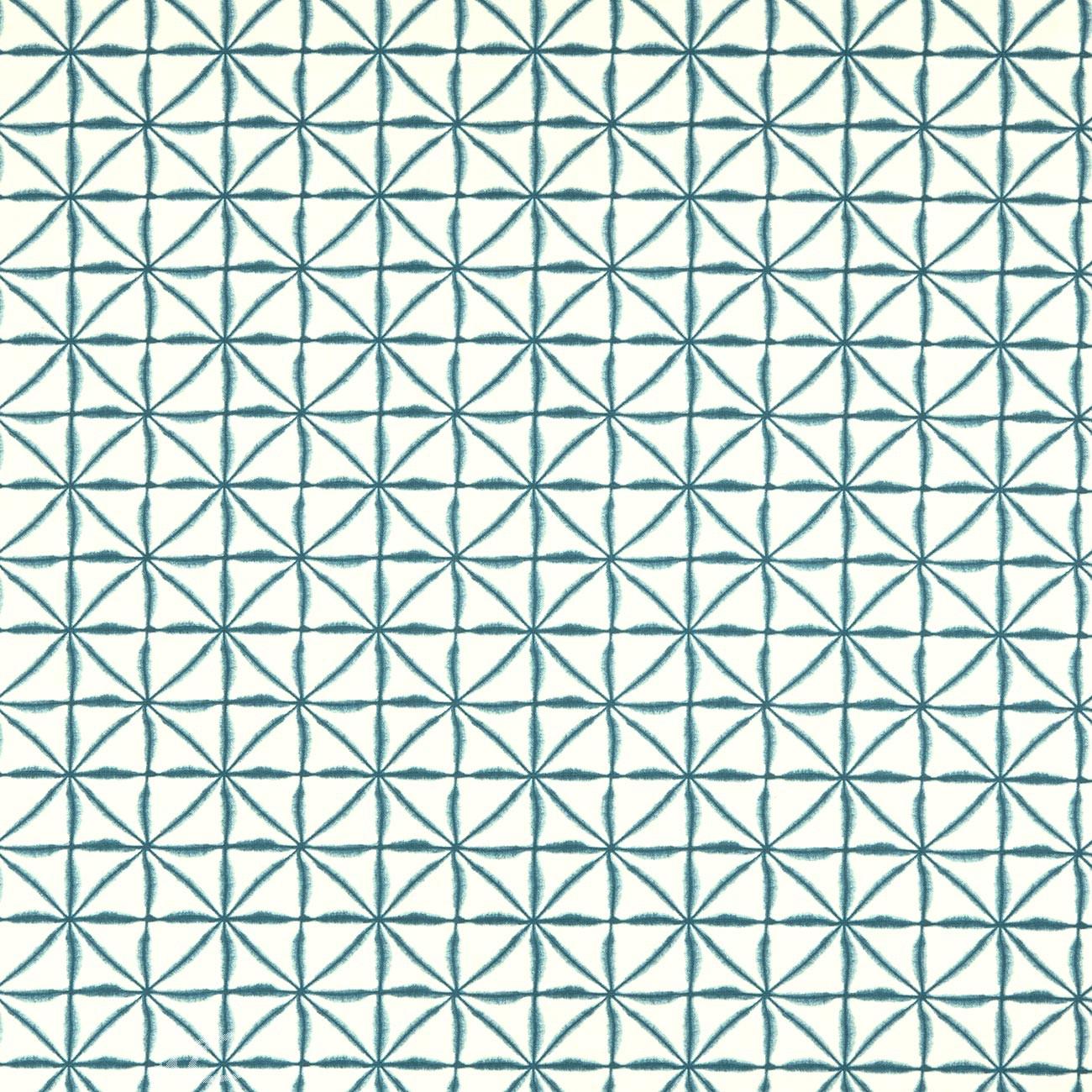 Clarke and Clarke Batik Nusa Aqua Curtain Fabric