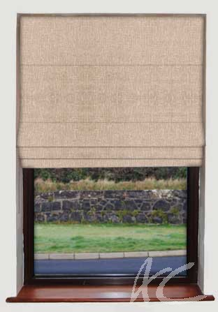 Dimensions Patina Taupe Roman Blind