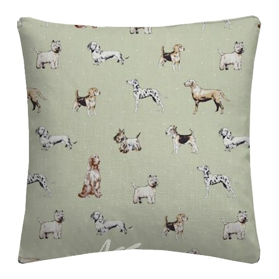Clarke and Clarke Blighty Best Of Show Sage Cushion Covers