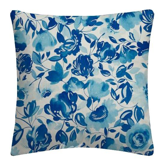 Clarke and Clarke Artbook Caitlin Linen Aqua Cushion Covers