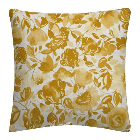 Clarke and Clarke Artbook Caitlin Linen Gold Cushion Covers