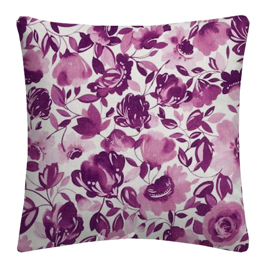 Clarke and Clarke Artbook Caitlin Linen Passion Cushion Covers