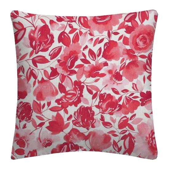 Clarke and Clarke Artbook Caitlin Linen Raspberry Cushion Covers