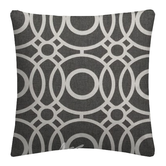 Clarke and Clarke Folia Eclipse Charcoal Cushion Covers