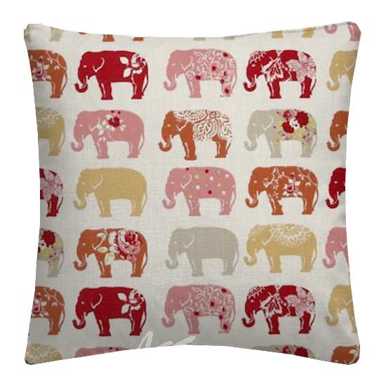 Clarke and Clarke Blighty Elephants Spice Cushion Covers