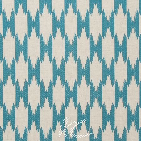 Clarke and Clarke Zanzibar Pemba Aqua Made to Measure Curtains