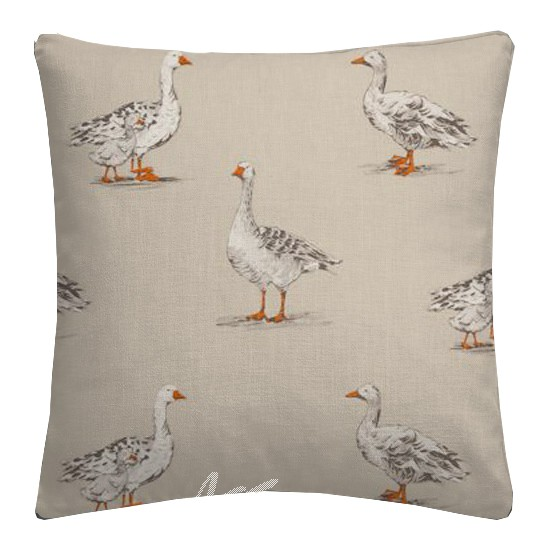 Clarke and Clarke Blighty Geese Natural Cushion Covers