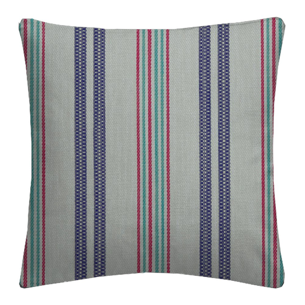 Clarke and Clarke  Colony Grenada Indigo/Raspberry Cushion Covers