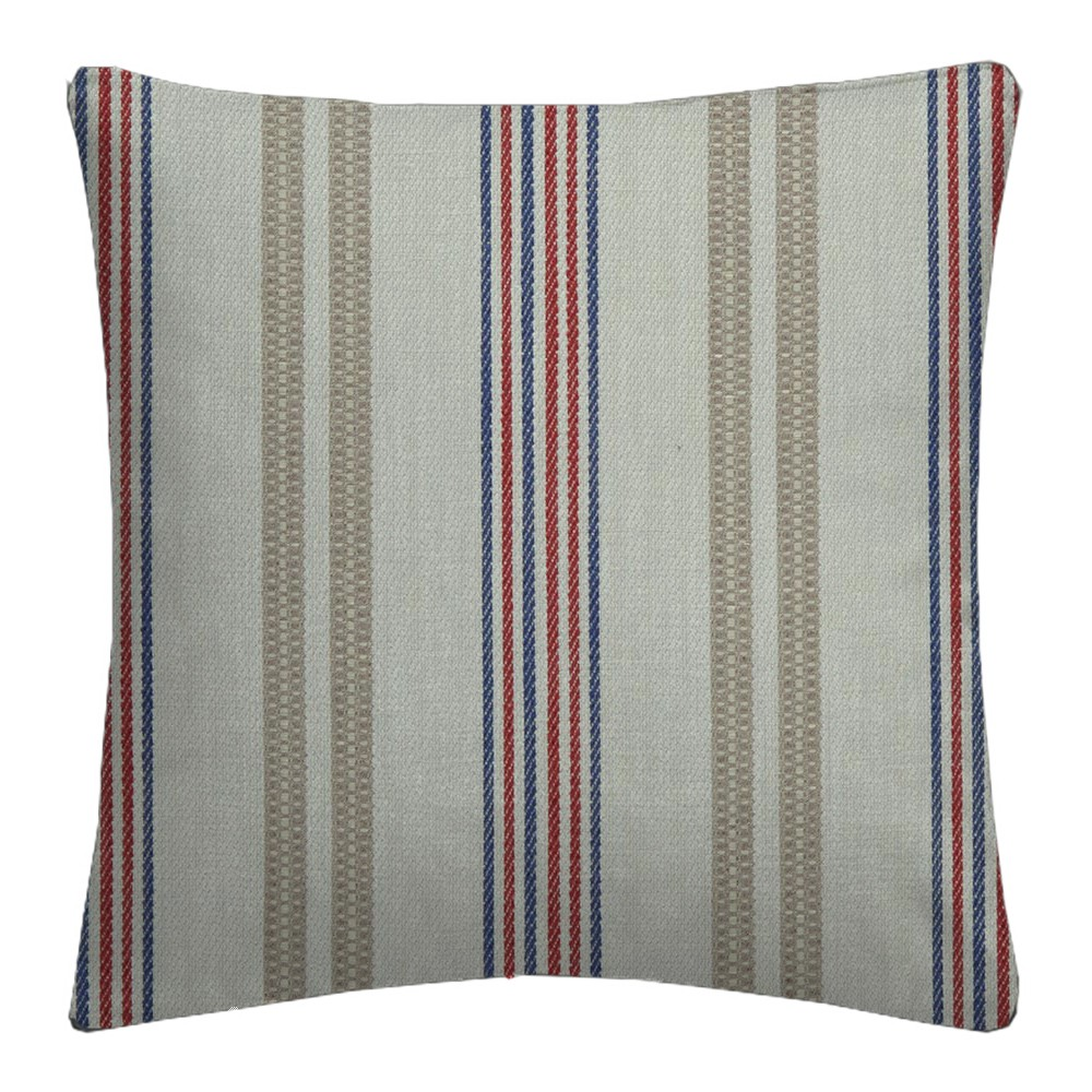 Clarke and Clarke  Colony Grenada Taupe/Rouge Cushion Covers