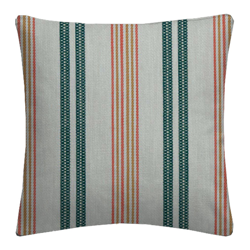 Clarke and Clarke  Colony Grenada Teal/Spice Cushion Covers