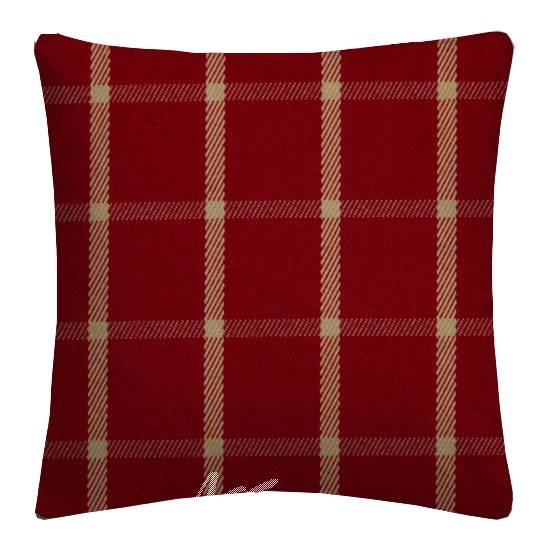 Prestigious Textiles Highlands Halkirk Cardinal Cushion Covers