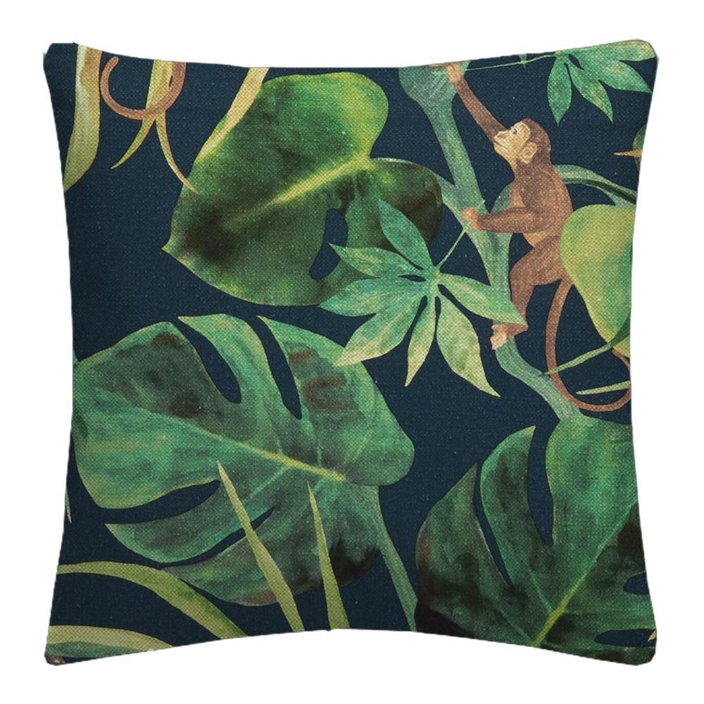 Clarke and Clarke  Colony Monkey Business Indigo Cushion Covers