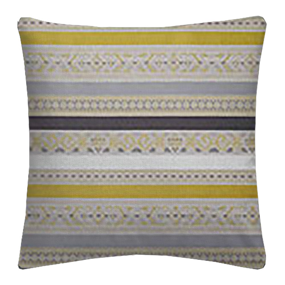 Clarke and Clarke Oslo Ommel Chartreuse Charcoal Cushion Covers