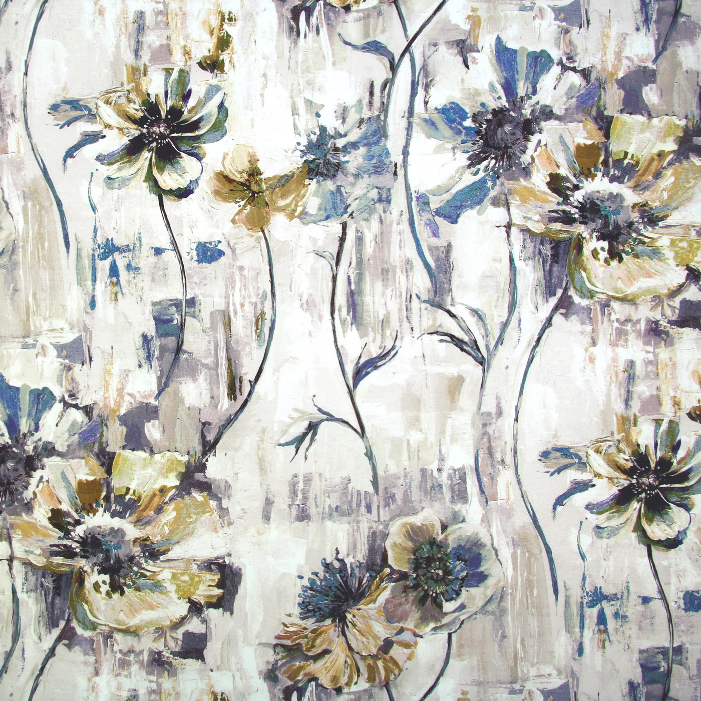 Printworks Poppy Tobacco Curtain Fabric