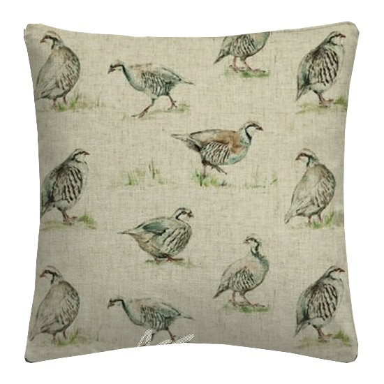 Clarke and Clarke Countryside Partridge Linen Cushion Covers