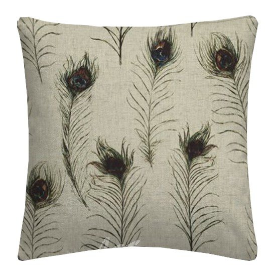 Clarke and Clarke Countryside PeacockFeathers Linen Cushion Covers