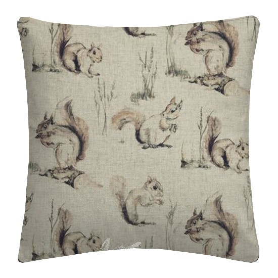 Clarke and Clarke Countryside Squirrels Linen Cushion Covers