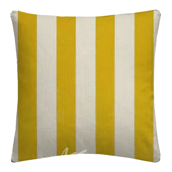 Clarke and Clarke Chateau St James Stripe Gold Cushion Covers