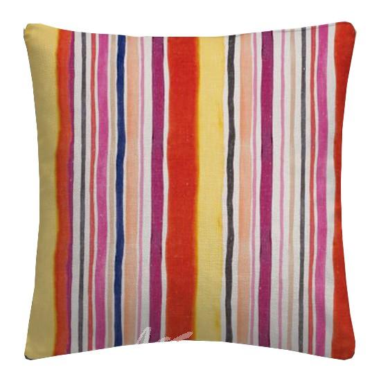 Clarke and Clarke Artbook Sunrise Stripe Linen Spice Cushion Covers
