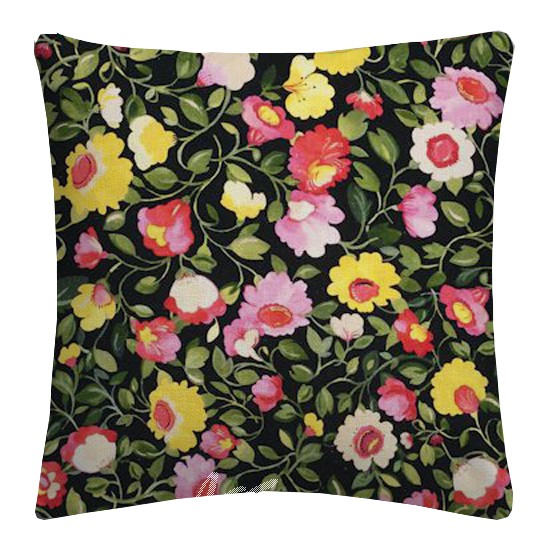 Clarke and Clarke Artbook Tatiana Linen Noir Cushion Covers