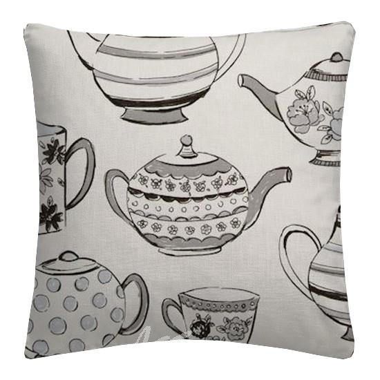 Clarke and Clarke Blighty Teatime Charcoal Cushion Covers
