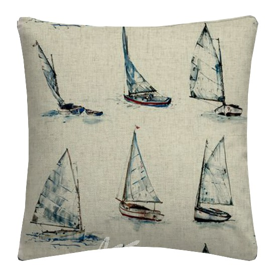 Clarke and Clarke Countryside Yachts Linen Cushion Covers