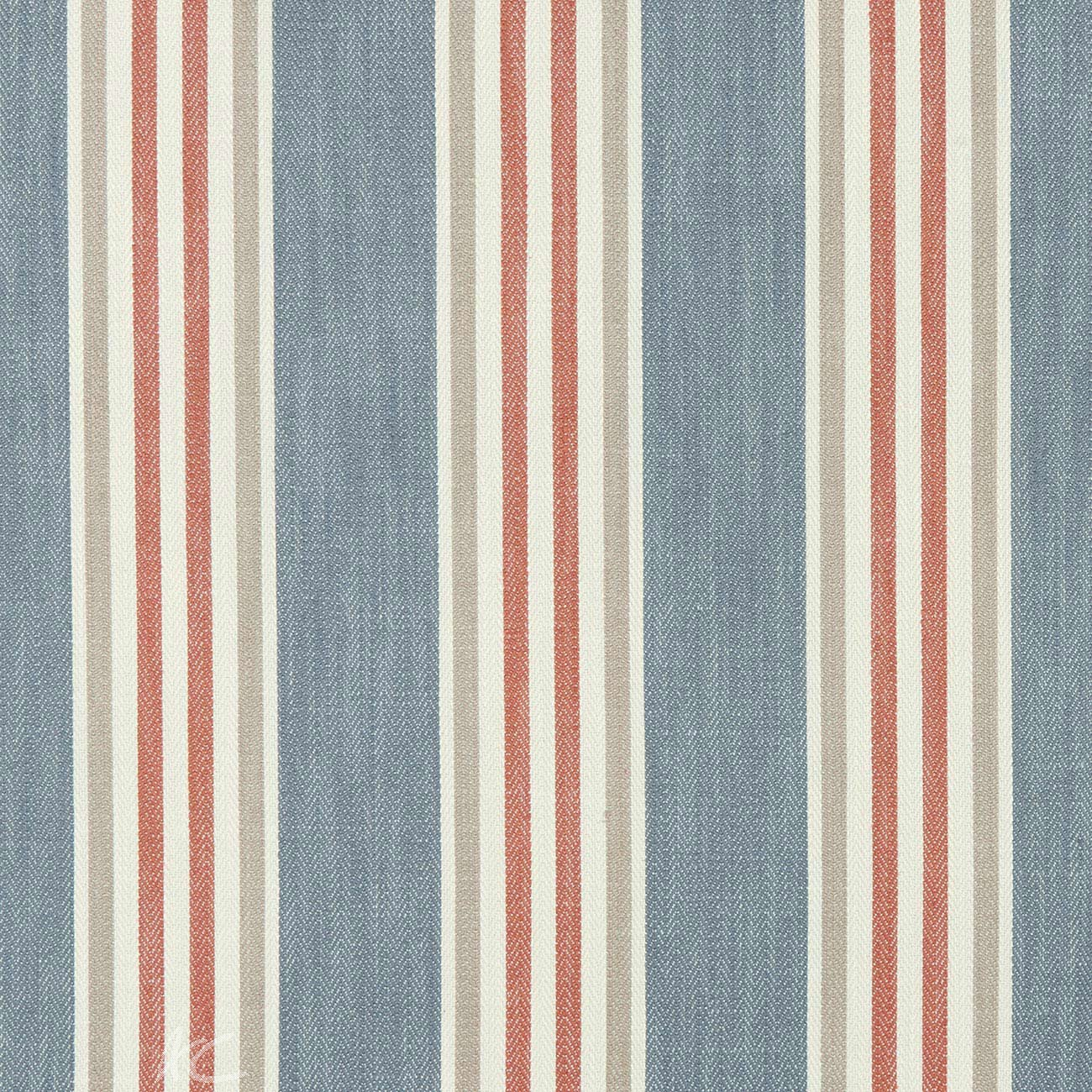 Clarke and Clarke Bloomsbury Quentin Denim/spice Made to Measure Curtains