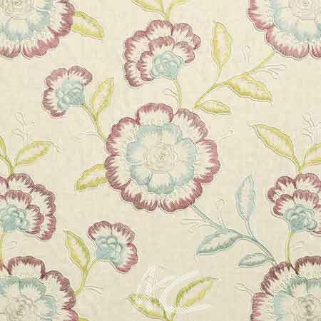 Clarke and Clarke Richmond Richmond RaspberryDuckegg Curtain Fabric
