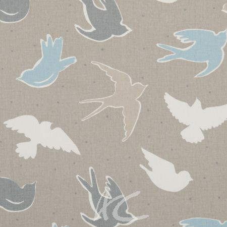 Clarke and Clarke Maritime Prints Seabirds Surf Made to Measure Curtains
