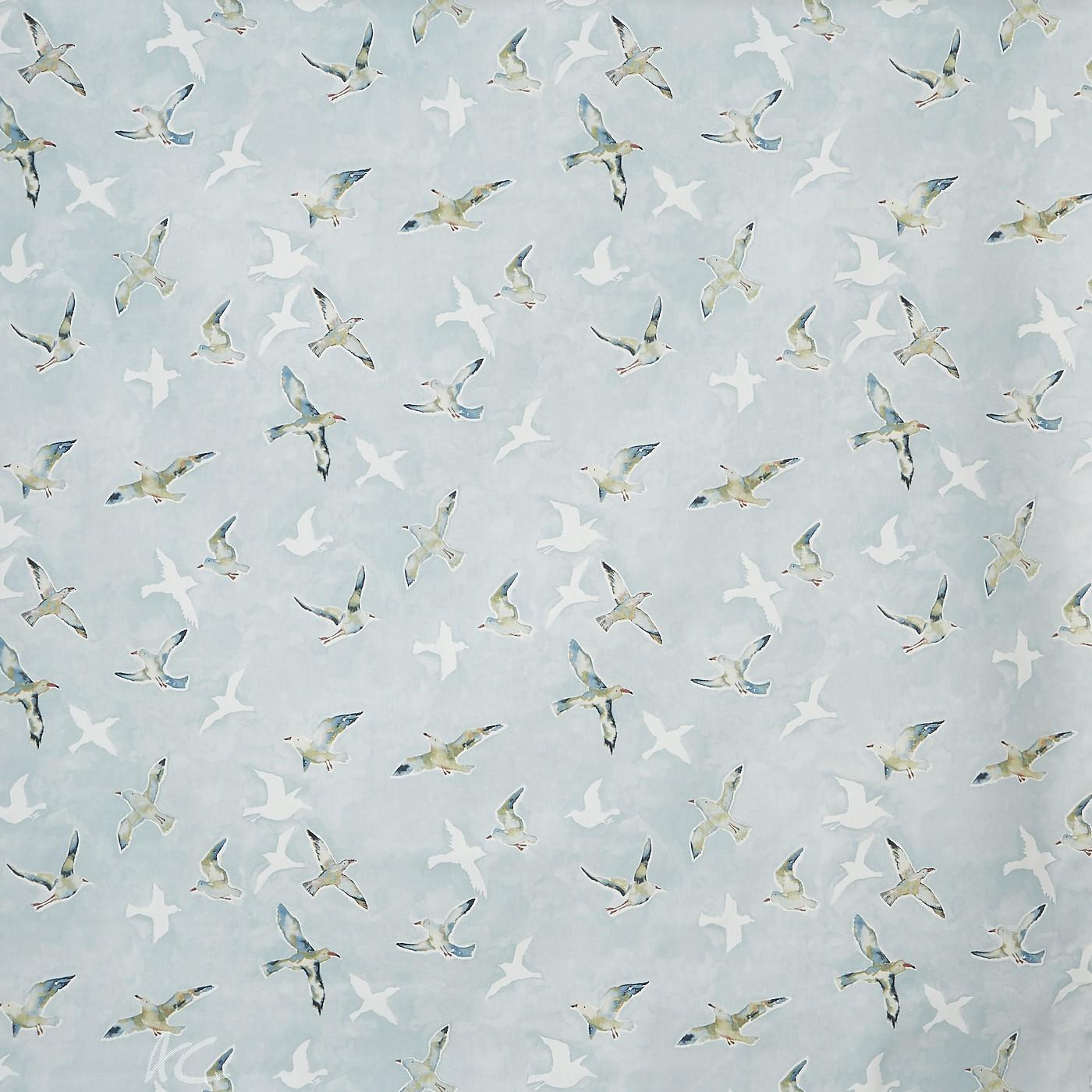 A Prestigious Textiles Beachcomber Seagulls Sky Roman Blind