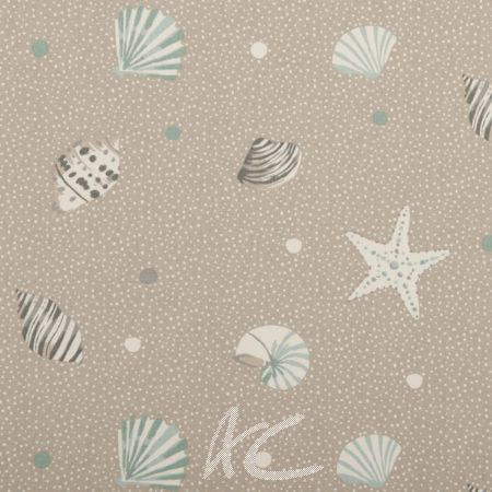 Clarke and Clarke Maritime Prints Seashells Surf Made to Measure Curtains