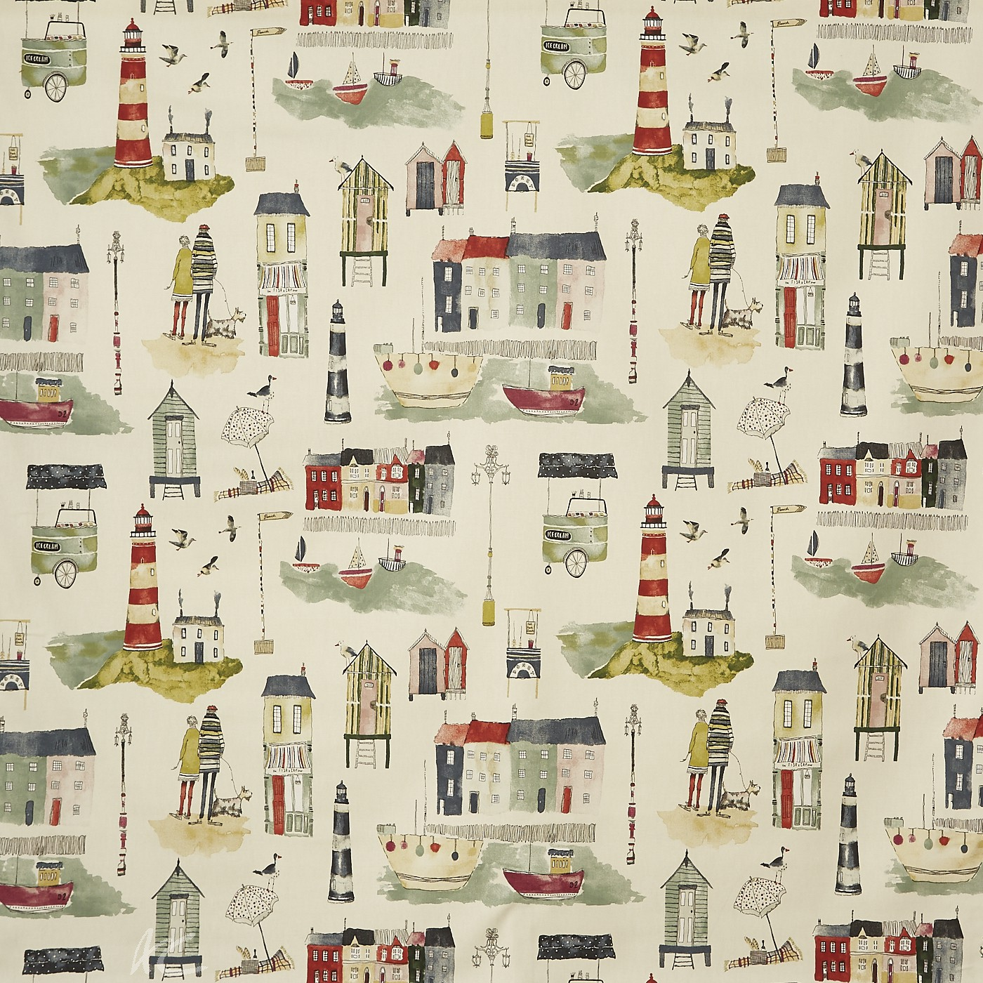 A Prestigious Textiles Beachcomber Seaside  Stone Curtain Fabric
