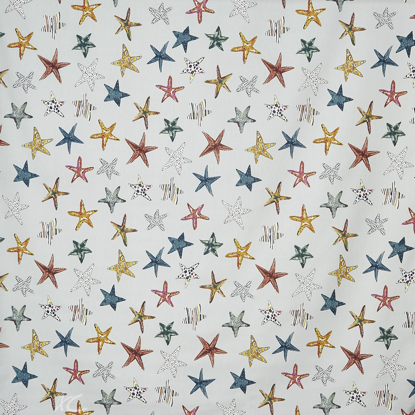 A Prestigious Textiles Beachcomber Starfish Pebble Made to Measure Curtains