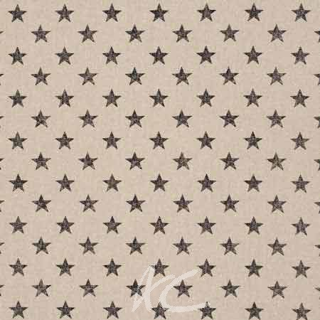 Clarke and Clarke Fougeres Stars Noir Cushion Covers