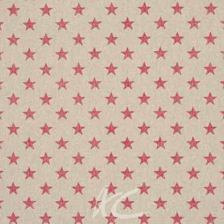 Clarke and Clarke Fougeres Stars Pink Curtain Fabric