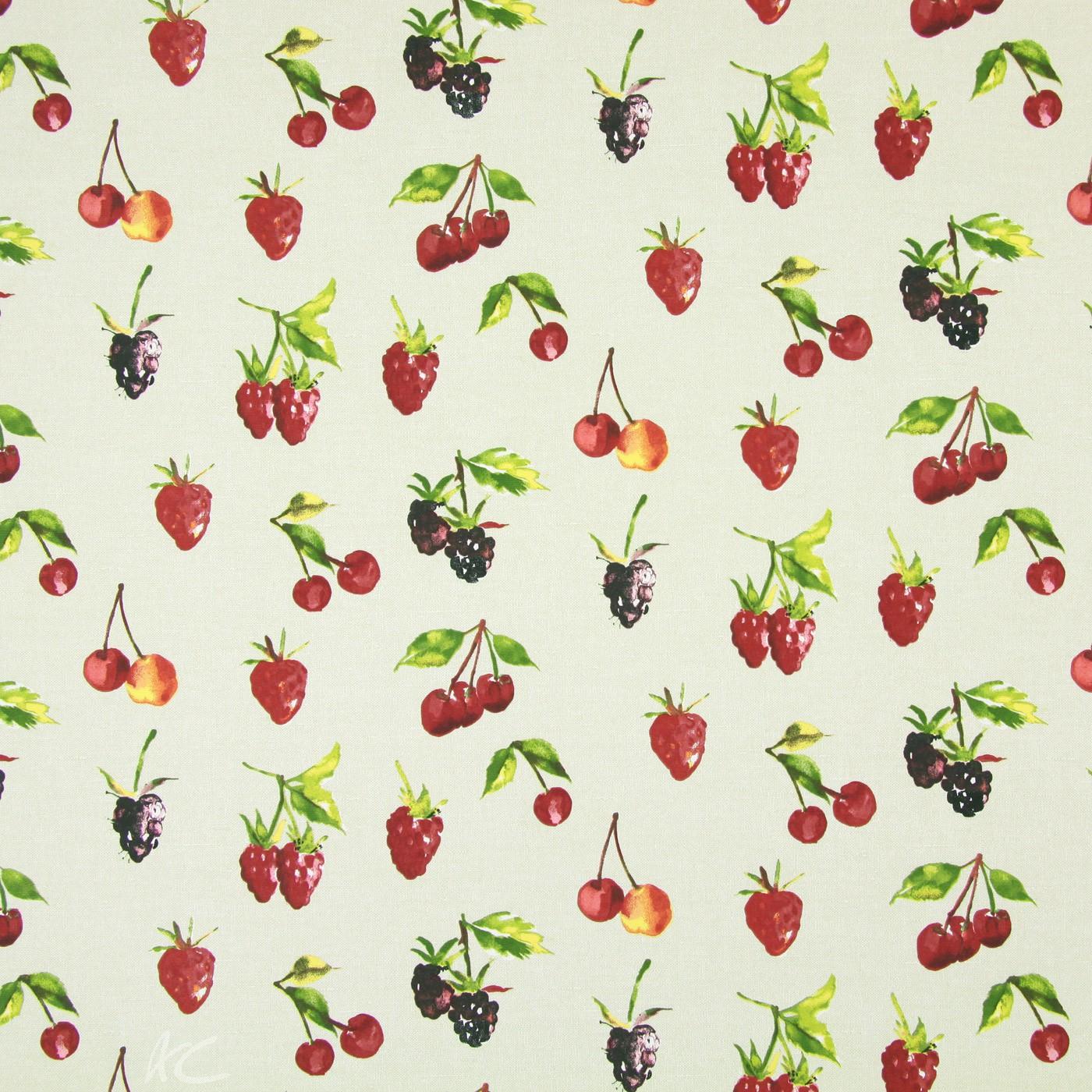 Country Fair Summer Berries Linen Roman Blind