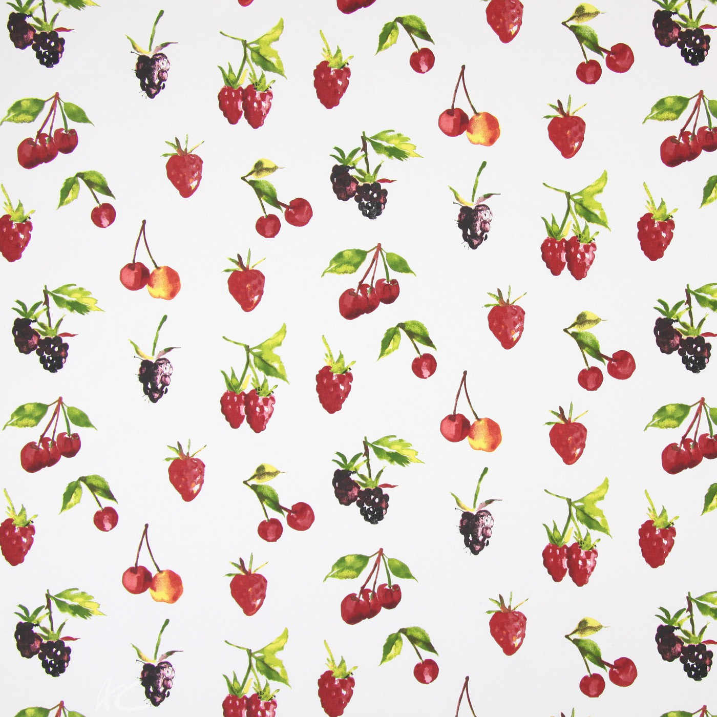 Country Fair Summer Berries Watercolour Made to Measure Curtains