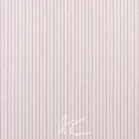 Clarke and Clarke Ticking Stripes Sutton Pink Roman Blind