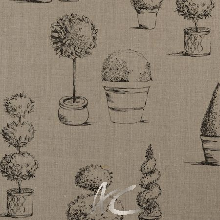 Clarke and Clarke Clarisse Topiary Linen Cushion Covers