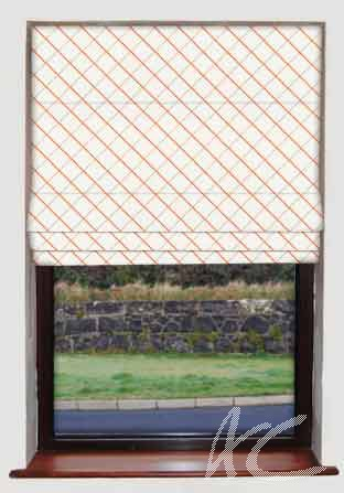 Clarke and Clarke Atmosphere Vibe Sunset Roman Blind