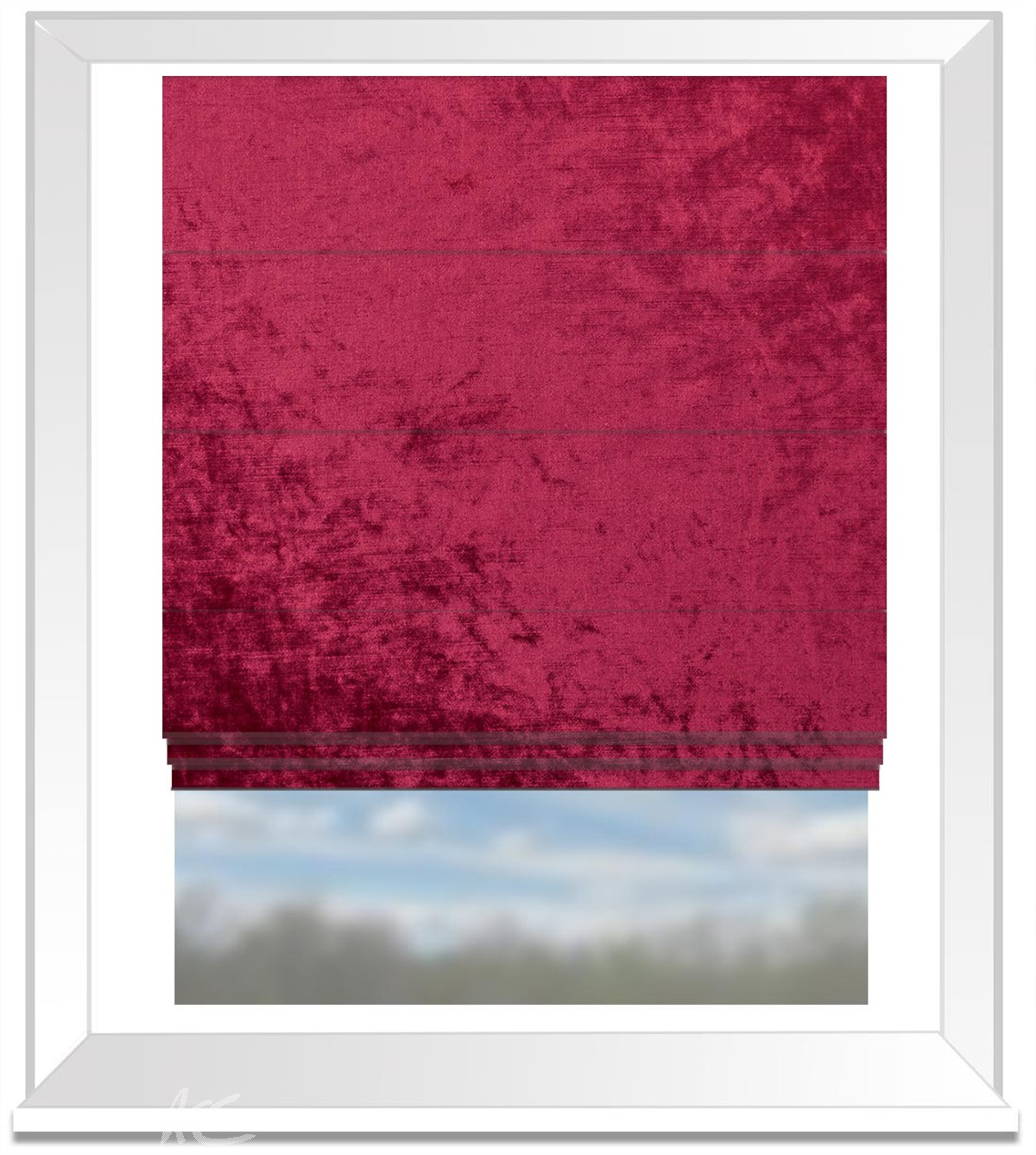 Clarke and Clarke Allure Claret Roman Blind