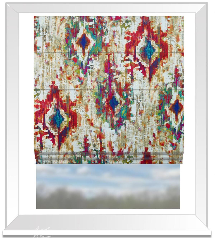 A Prestigious Textiles Decadence Bohemia Calypso Roman Blind